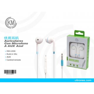 优质JACK耳机 KM-U009  Auriculares Con Microfono A AUX