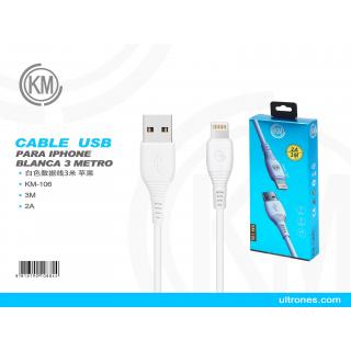 KM-106 3米数据线/IPHONE/白