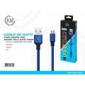 MICRO USB针织线 50CM 蓝色