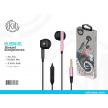 优质耳机黑粉AU-005 Smart Earphones Build-In Mic 3.5MM Jack Rosa
