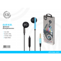 优质耳机黑蓝AU-006 Smart Earphones Build-In Mic 3.5MM Jack Azul
