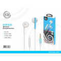 优质耳机白蓝AU-001 Smart Earphones Build-In Mic 3.5MM Jack Azul